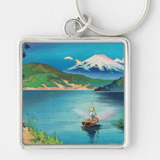 Japonés Woodblock del monte Fuji - hermoso Llaveros Personalizados