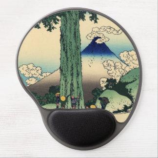 Japonés Woodblock: Paso de Mishima en la provincia Alfombrillas Con Gel