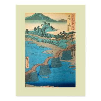 Japonés Woodblock Postales