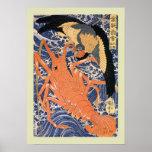 Japonés Woodblock Poster
