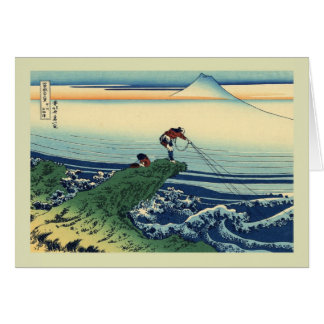 Japonés Woodblock Tarjeta