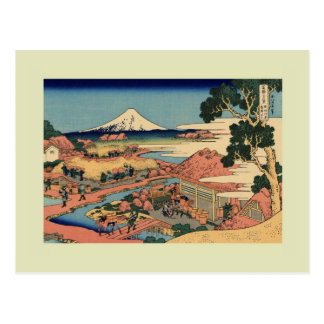 Japonés Woodblock Tarjeta Postal