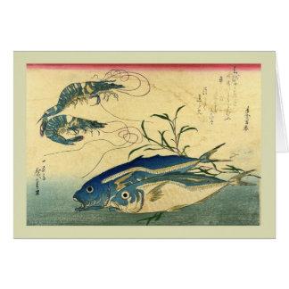 Japonés Woodblock Tarjeton