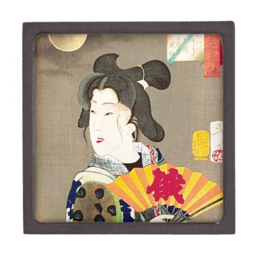 Japonés Woodblock Ukiyo-e del geisha del claro de  Cajas De Regalo De Calidad