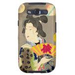 Japonés Woodblock Ukiyo-e del geisha del claro de  Galaxy SIII Cárcasa