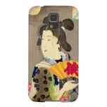 Japonés Woodblock Ukiyo-e del geisha del claro de Fundas De Galaxy S5