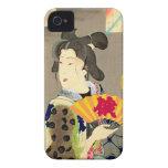 Japonés Woodblock Ukiyo-e del geisha del claro de  Case-Mate iPhone 4 Carcasa