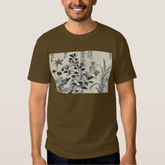 Japonica,flowers and anemone by Tachibana,Yasukuni T-shirts