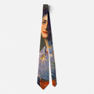 Japonisme Portrait 1890 Neck Tie