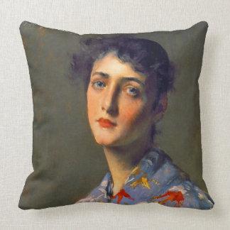 Japonisme Portrait 1890 Pillow