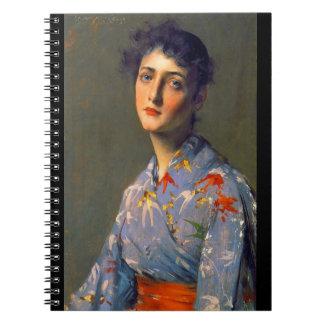 Japonisme Portrait 1890 Spiral Notebook