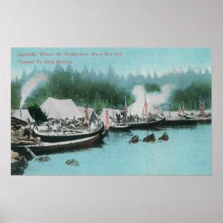Japonski Island - Potlatchers & Sitka Natives Poster