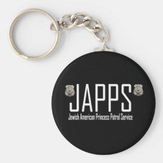 JAPPS:  Princesa americana judía Patrol Service Llavero Redondo Tipo Pin