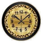 Jaquar Animal Print with Gold Scribble Design Clock
