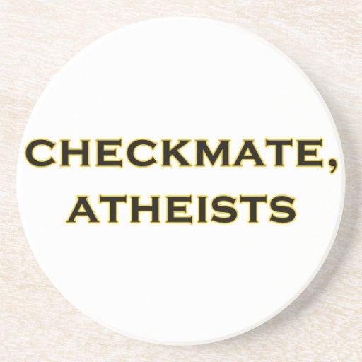 Jaque mate, ateos posavasos personalizados
