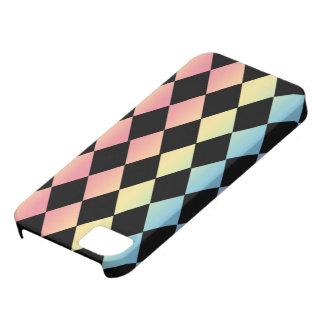 Jaque mate-Negro con el fondo Multi-En colores pas iPhone 5 Fundas