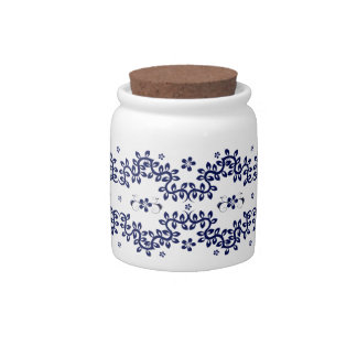 JAR - Blue White Floral - Multi Purpose Candy Jars