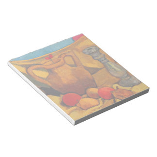 jar, candlestick and fruits by Modersohn Memo Note Pad