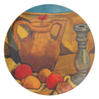 jar, candlestick and fruits by Modersohn Dinner Plates