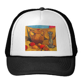 jar, candlestick and fruits by Modersohn Trucker Hat