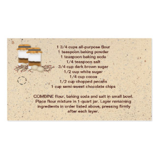 Jar Cookie Mix Hang Tag Double-Sided Standard Business Cards (Pack Of 100)