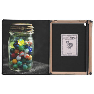 Jar Full of Sunshine and Glass Marbles Cover For iPad
