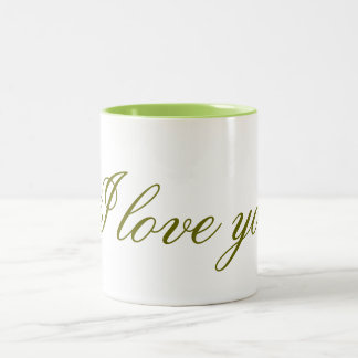 Jar I love you Two-Tone Coffee Mug