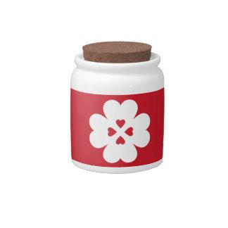 JAR - LOVE CLOVER CANDY JAR