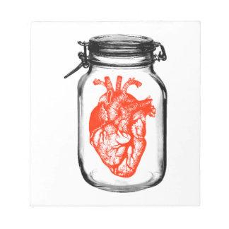 Jar of Heart Memo Pad