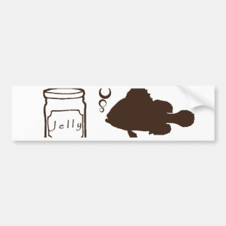 jar of jelly and fishes makes jelly fish bumper sticker