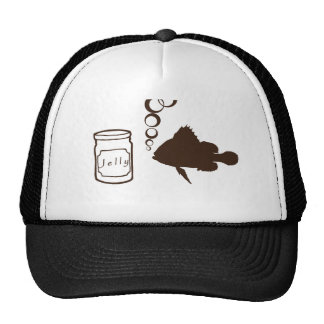 jar of jelly and fishes makes jelly fish trucker hat
