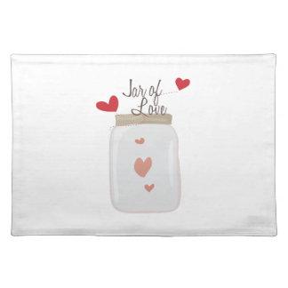 Jar of Love Cloth Place Mat