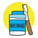 jar of mayonnaise cut out