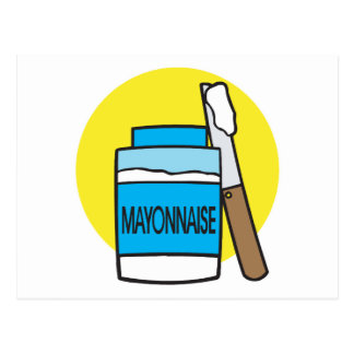 jar of mayonnaise postcard