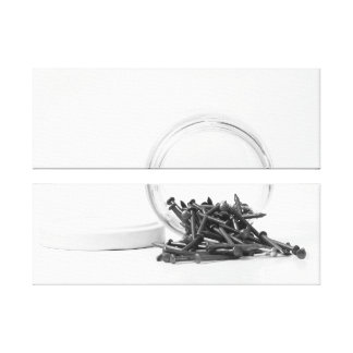 Jar of Nails Wrapped Canvas Gallery Wrap Canvas