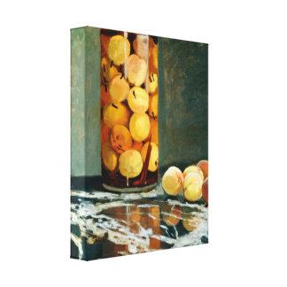 Jar of Peaches - Impressionist Art Canvas - Monet