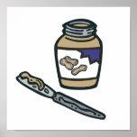 jar of peanut butter print