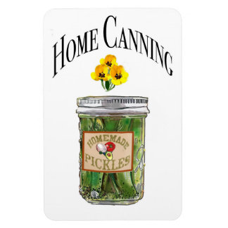 Jar of Pickles Refrigerator Magnet by Artist