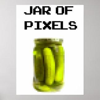 Jar of pixels posters