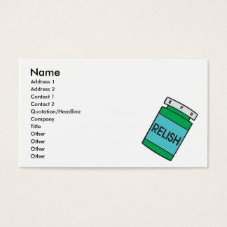 jar of relish business card