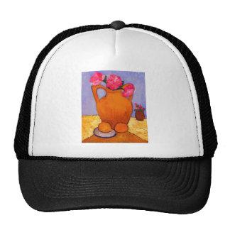 jar, peonies and Oranges by Modersohn Trucker Hat