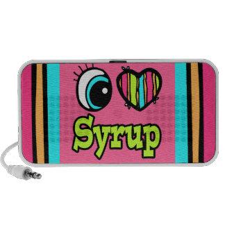 Jarabe brillante del amor del corazón I del ojo iPod Altavoz