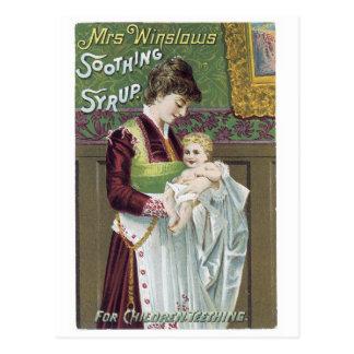 Jarabe calmante de señora Winslows Postal