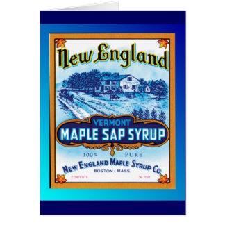 Jarabe de arce de Nueva Inglaterra Vermont Tarjeta De Felicitación