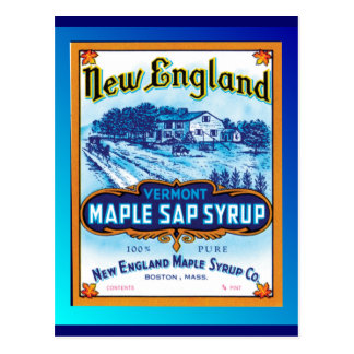 Jarabe de arce de Nueva Inglaterra Vermont Tarjetas Postales