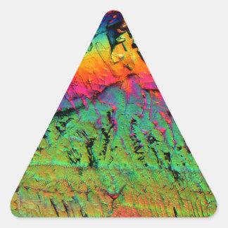jarabe de arce debajo de un microscopio calcomania trianguladas personalizadas