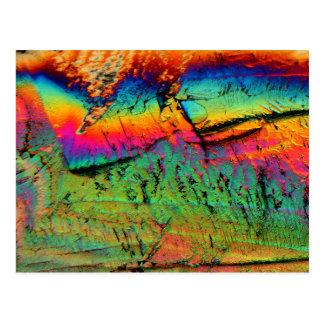jarabe de arce debajo de un microscopio postal