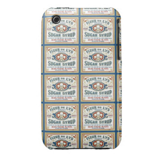 Jarabe de azúcar de la flor de lis iPhone 3 Case-Mate cárcasas