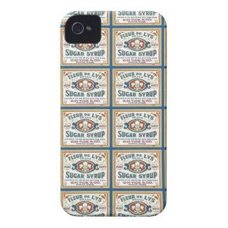 Jarabe de azúcar de la flor de lis iPhone 4 Case-Mate cobertura