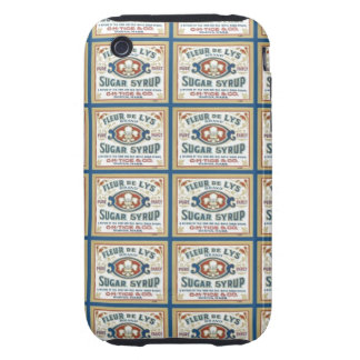 Jarabe de azúcar de la flor de lis tough iPhone 3 carcasas